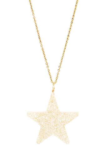 Sparkling Gold Star Resin Necklace