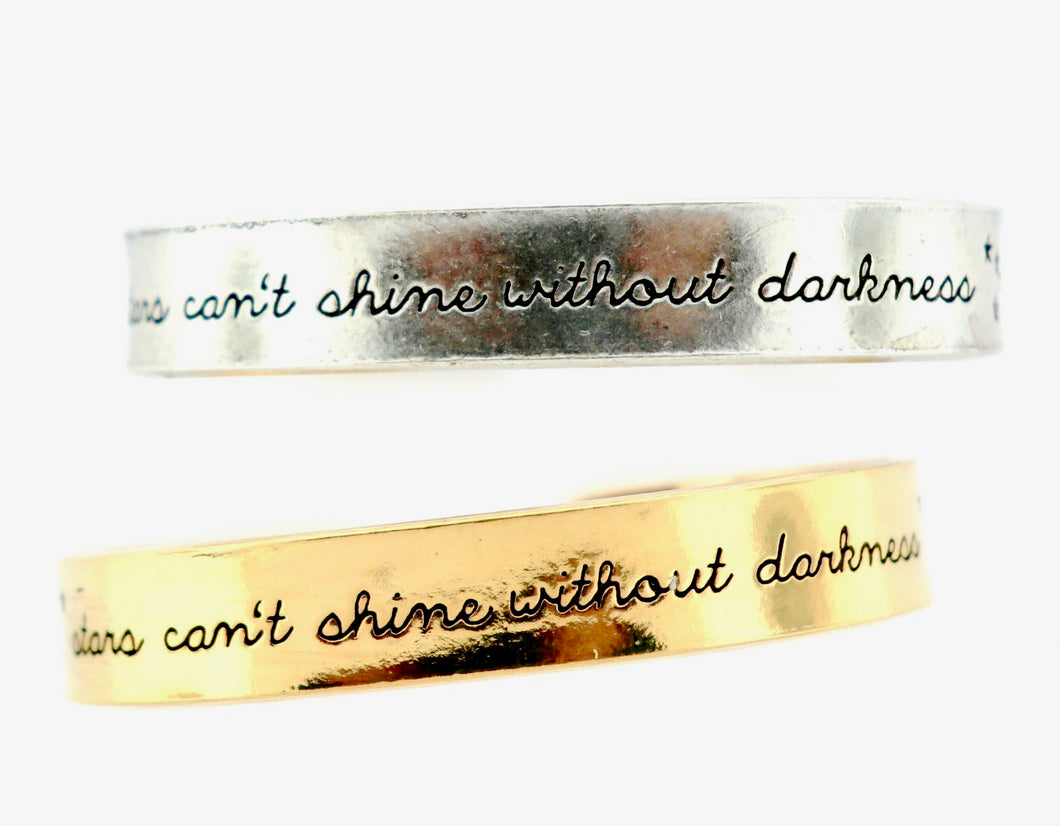 Stars Can't Shine Without Darkness Cuff Bracelet