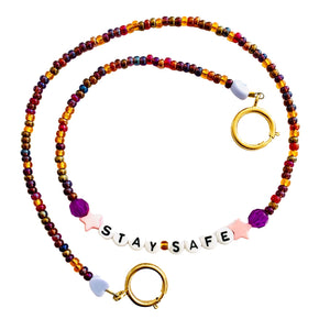 Stay Safe Beaded Mask Chain
