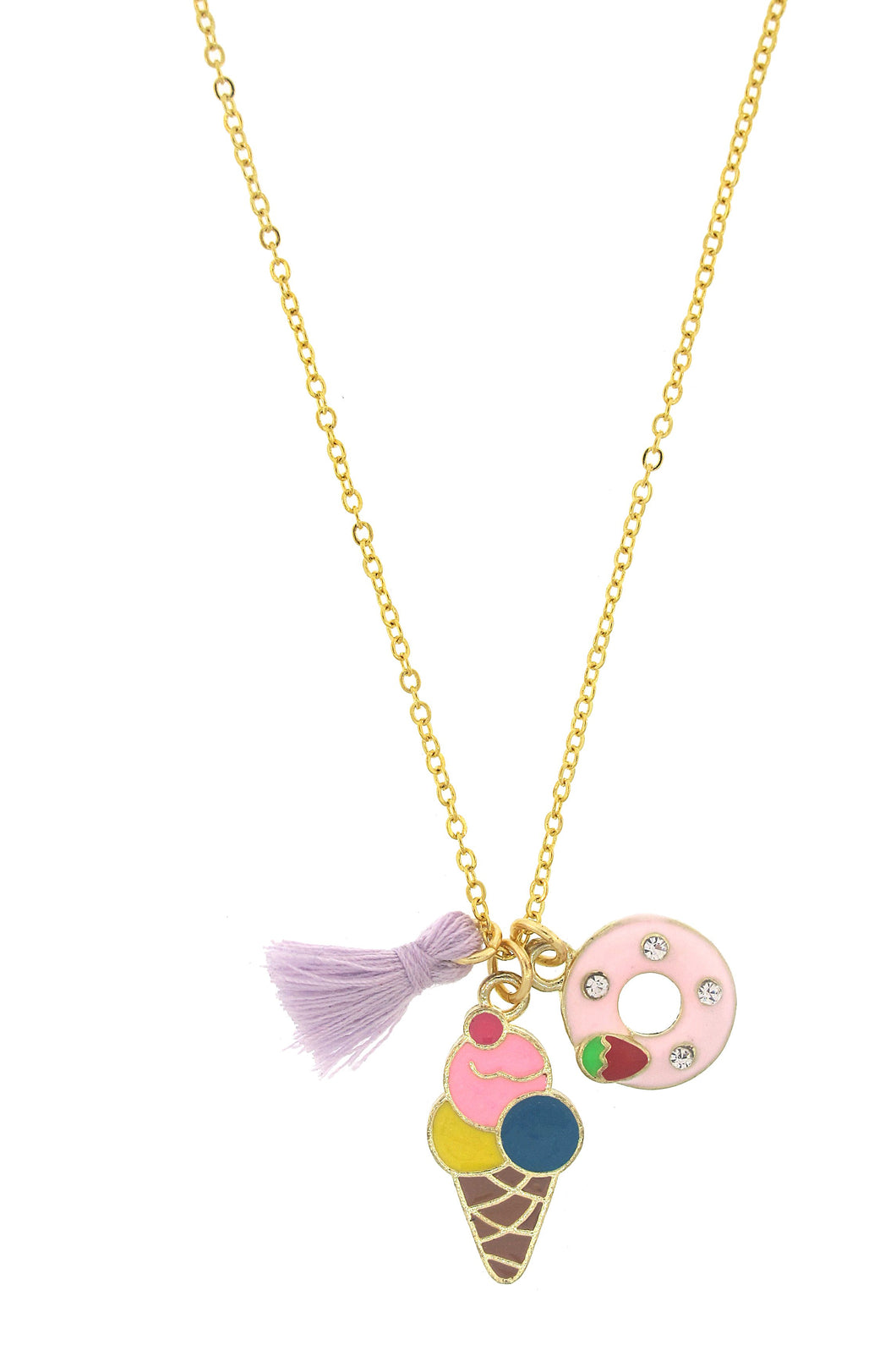 Ice Cream and Donut Fun in the Sun Necklace