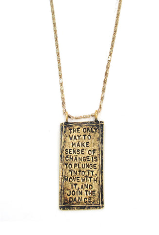 "'The Only Way..."" Hand Stamped Necklace"