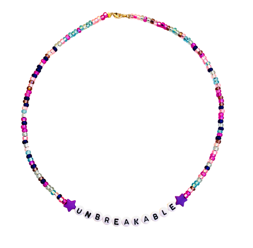 multi color beaded unbreakable necklace
