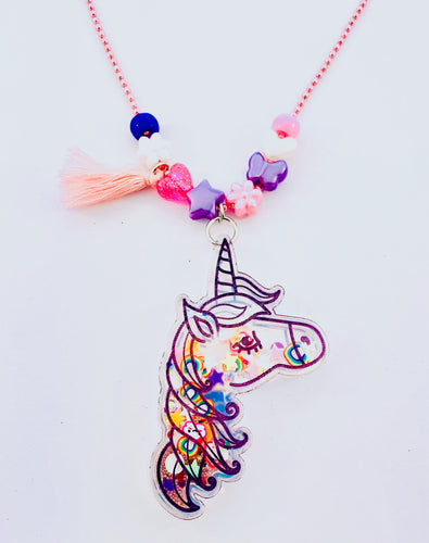 unicorn shaker necklace