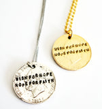 WISH FOR HOPE AND HOPE FOR FAITH NECKLACE