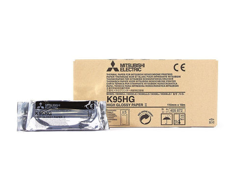 Mitsubishi K95HG High Gloss Thermal Paper - KPI Ultrasound