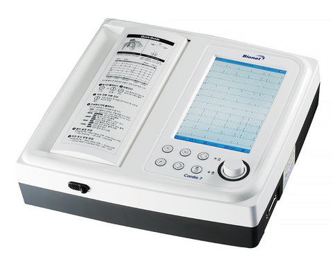 "Bionet Cardio 7 Electrocardiograph 7"" TFT LCD 12 channel Interpretive resting ECG/EKG machine with touch screen - KPI Ultrasound  - 1"