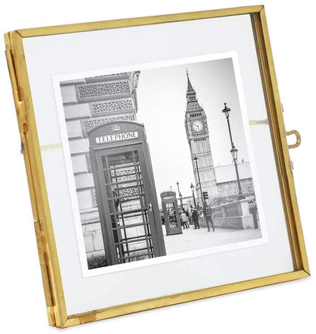 Frames - 4x4 Antique Gold Floating Frame