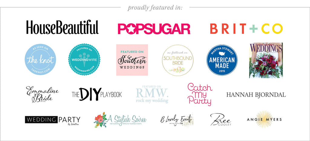 Digibuddha has been featured on House Beautiful, Popsugar, Brit + Co, The Knot, Wedding Wire, Souther Weddings and more