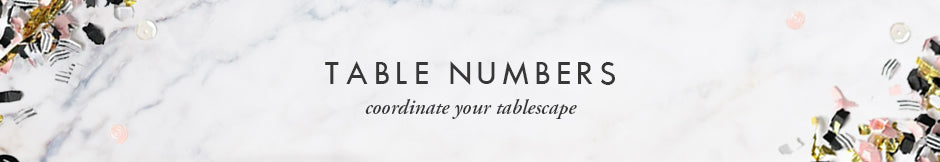 Digibuddha Table Numbers - coordinate your wedding tablescape
