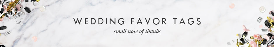 Digibuddha Wedding Favor tags - a small note of thanks with your wedding favor