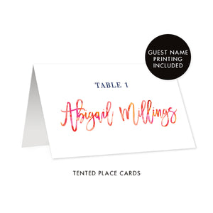 Bright Floral Place Cards | Abigail