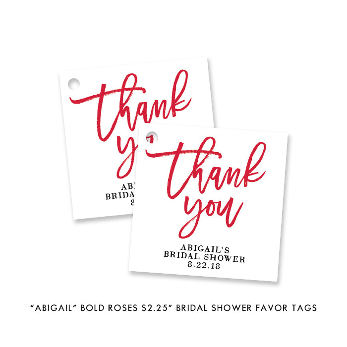 """Abigail"" Bold Roses Brunch + Bubbly Bridal Shower Invitation"