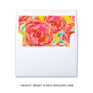 """Abigail"" Bright Floral Bridal Shower Invitation"
