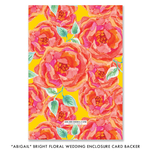 """Abigail"" Bright Floral Enclosure Card"