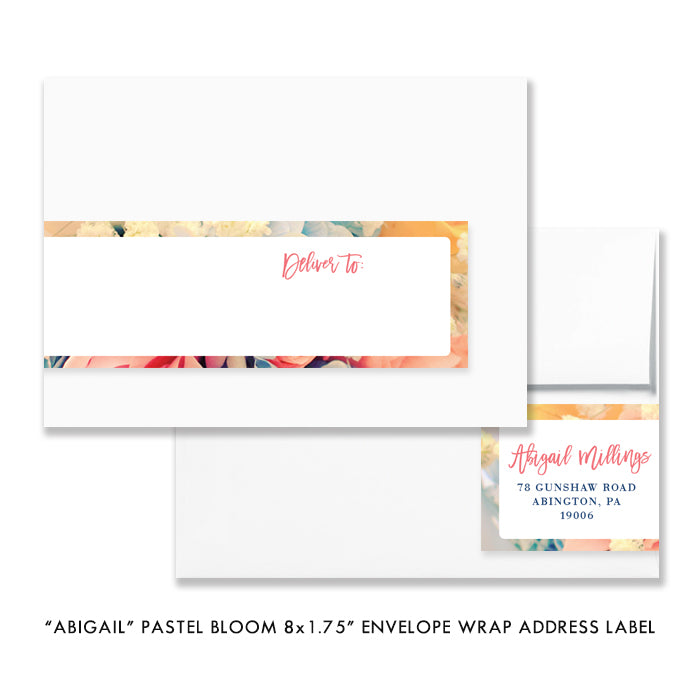 """Abigail"" Pastel Bloom Brunch + Bubbly Bridal Shower Invitation"
