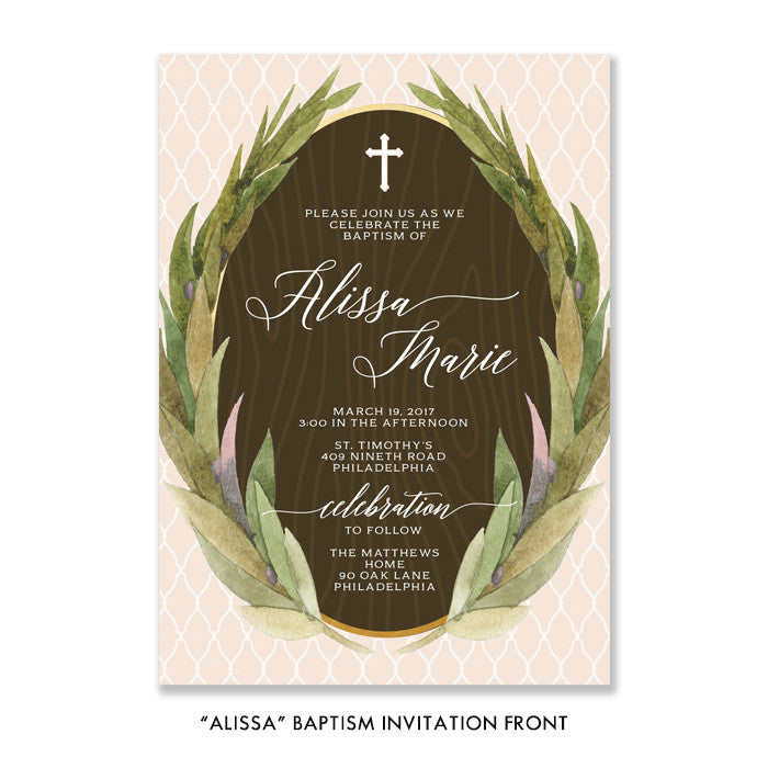 """Alissa"" Baptism Invitation"