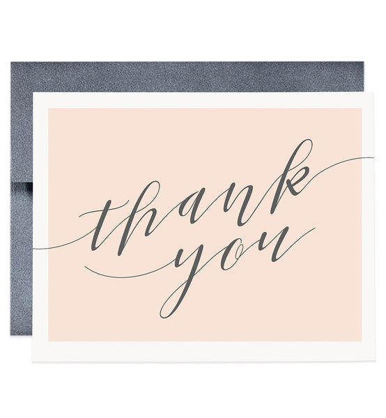 Peach & Gray Thank You Card | Allie