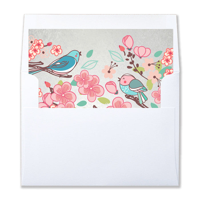 """Amelie"" Little Bird Envelope Liners"