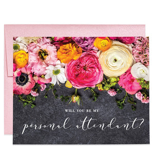 Rustic Floral Will You Be My Bridesmaid? Card | Amy