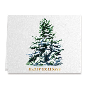 Happy Holidays Greeting Card with Christmas Tree