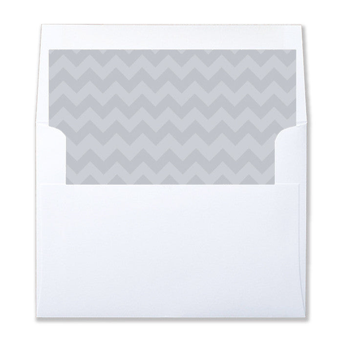 """Anderson"" Gray Chevron Envelope Liners"