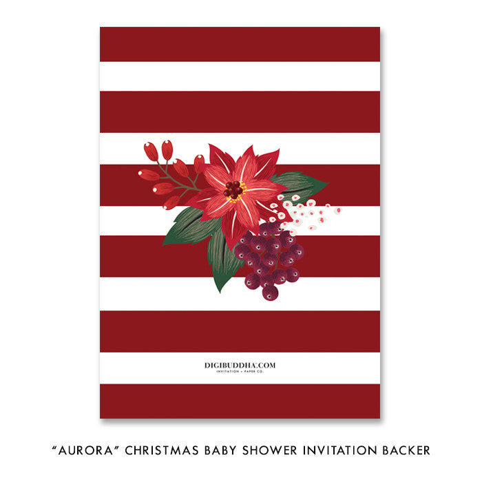 """Aurora"" Christmas Baby Shower Invitation"