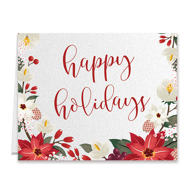 poinsettia boxed holiday cards aurora - Boxed Holiday Cards