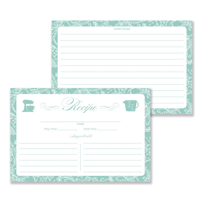 Lace Recipe Cards |  Bethany