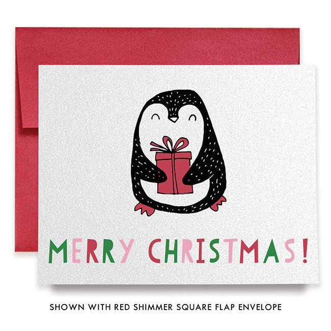 Happy penguin holiday card set boxed christmas cards with envelopes cute penguin christmas greeting card m4hsunfo