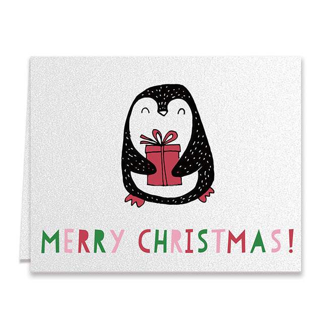Cute Penguin Christmas Greeting Card