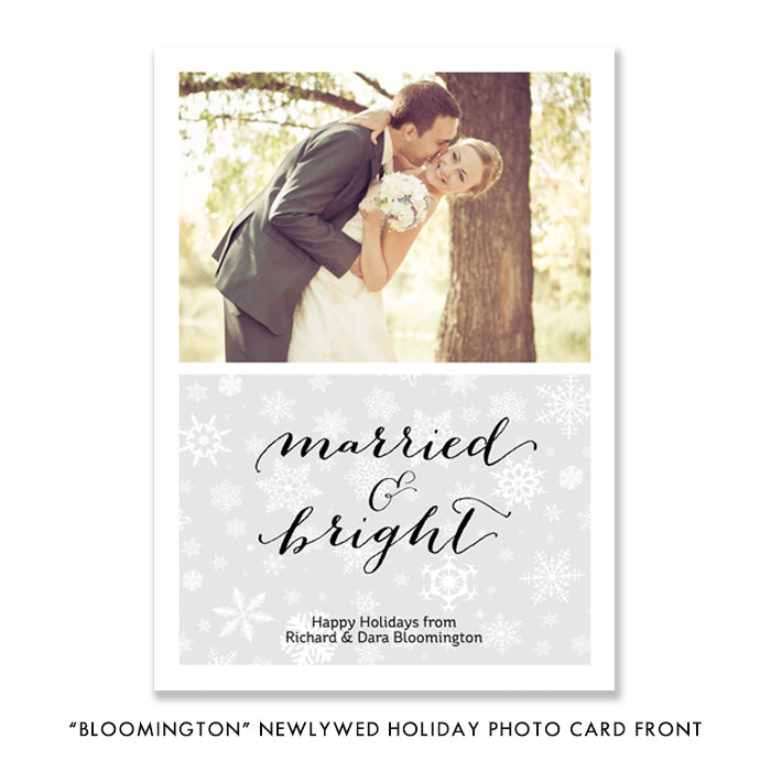 Just Married Photo Card