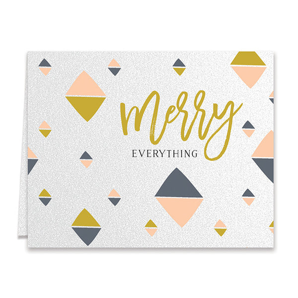 Merry Everything Shimmer Holiday Greeting Card