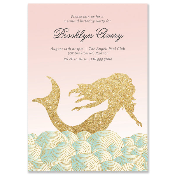 Baby Girl's Birthday Party Invitation