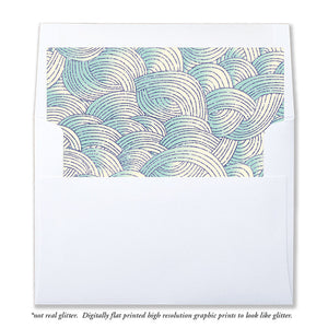 """Brooklyn"" Teal + Purple Mermaid Envelope Liners"