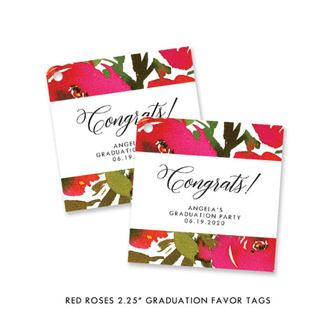 Graduation Party Favor Tags