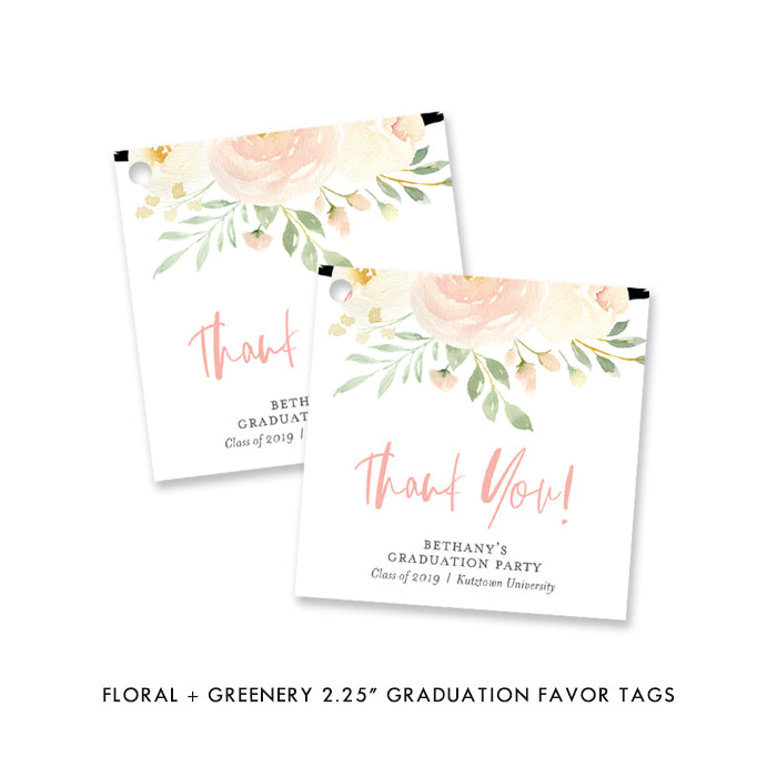 Floral + Greenery Graduation Favor Tags Coll. 2