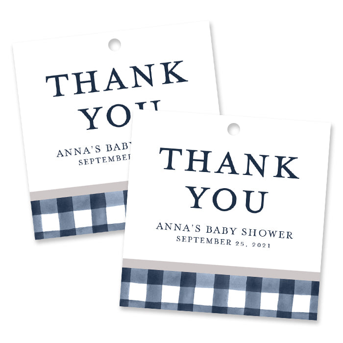 Farmhouse Plaid Favor Tags