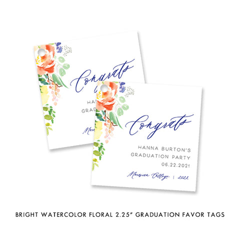 Grad Party Favor Tags