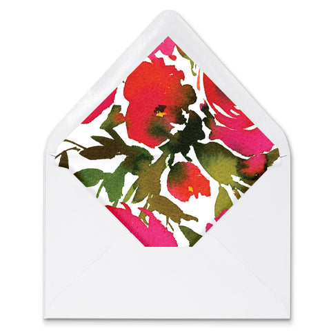 Red Roses Envelope Liners Coll. 1A