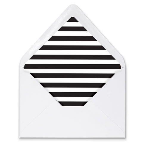 Black Stripes Envelope Liners Coll. 1B