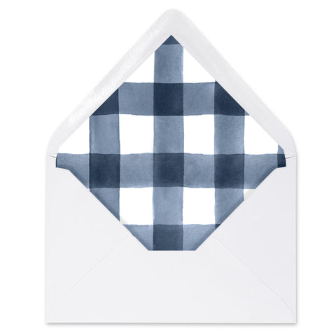 Navy Gingham Envelope Liners Coll. 3