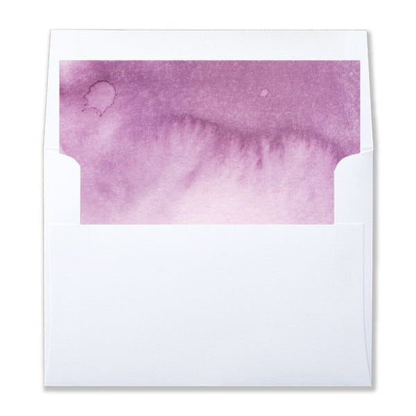 Purple Watercolor Envelope Liners Coll. 4