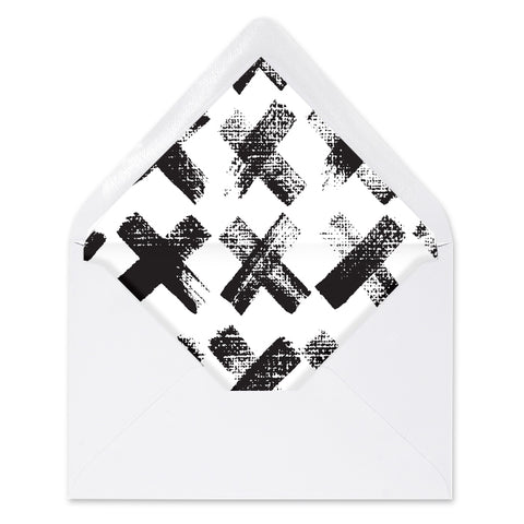 Edgy Black & White Envelope Liners Coll. 7
