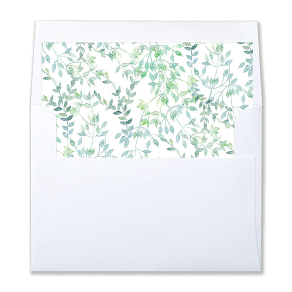 Watercolor Vine Pattern Envelope Liners