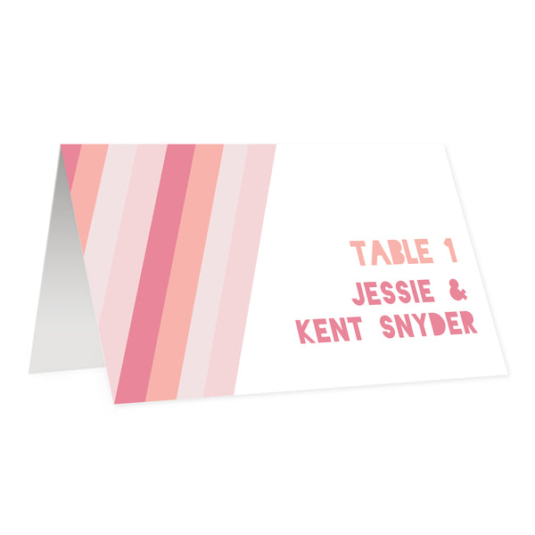 Blush Gradient Place Cards | Coll. 12