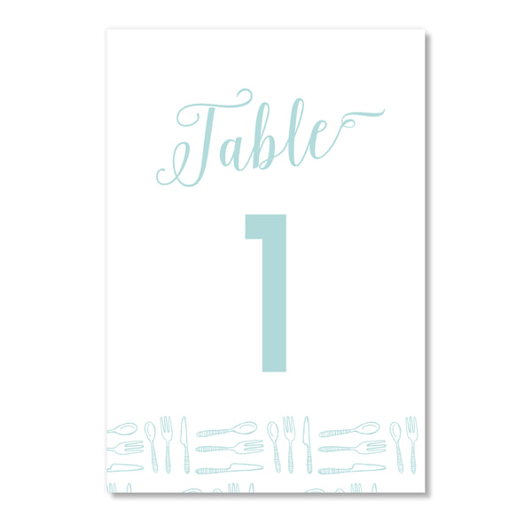 Forks & Spoons Table Numbers | Coll. 5