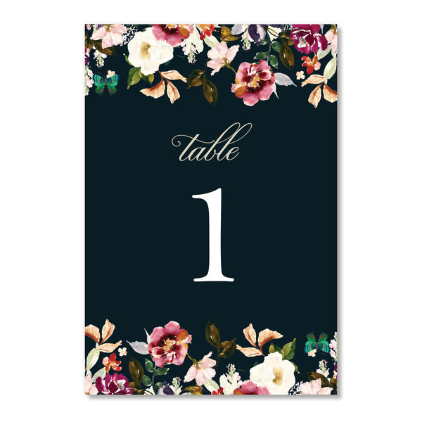 Romantic Floral Table Numbers | Coll. 6