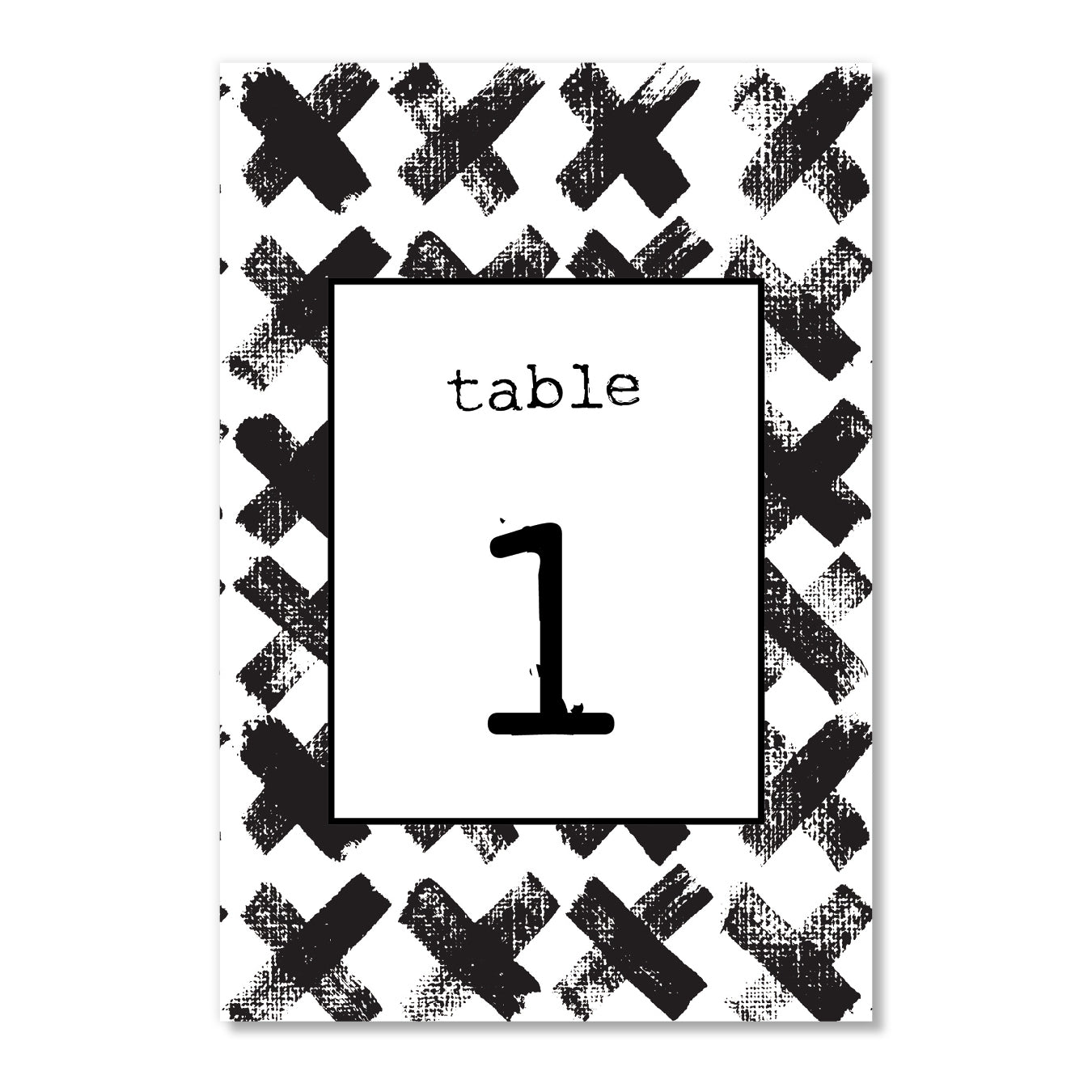 Black & White Table Numbers