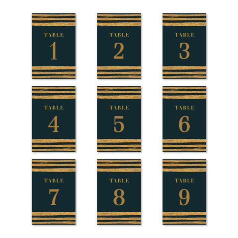 Black & Gold Table Numbers