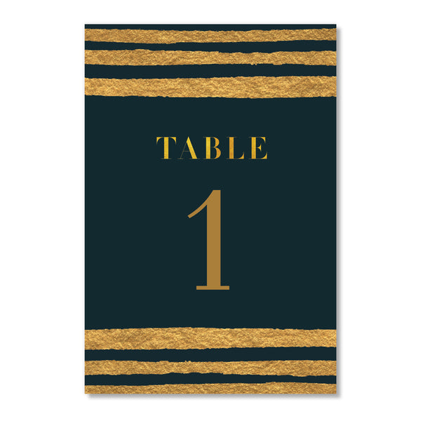Classic Black & Gold Table Numbers | Coll. 25